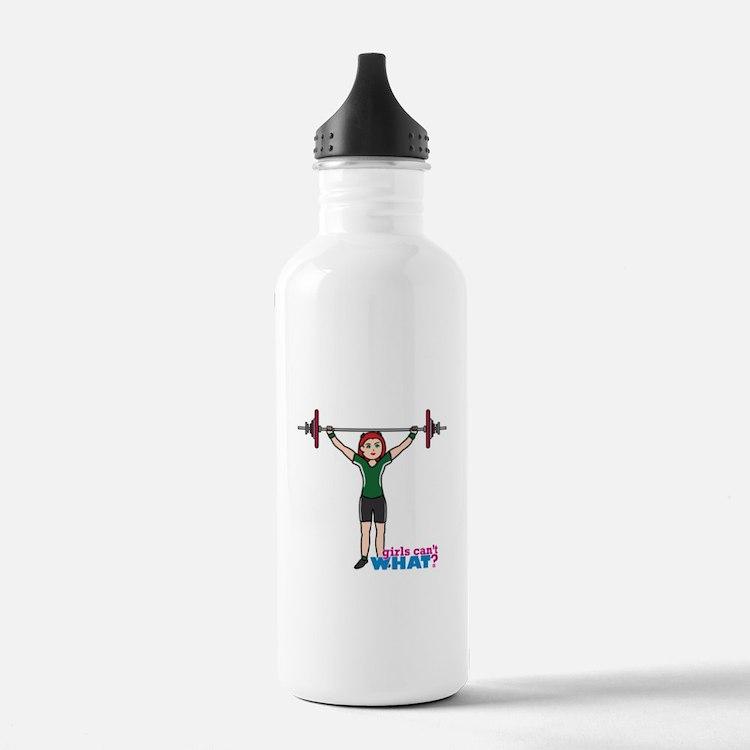 Weight Lifter Light/Red Water Bottle
