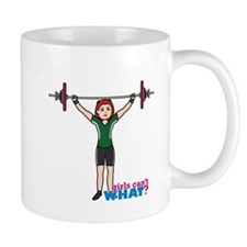 Weight Lifter Light/Red Mug