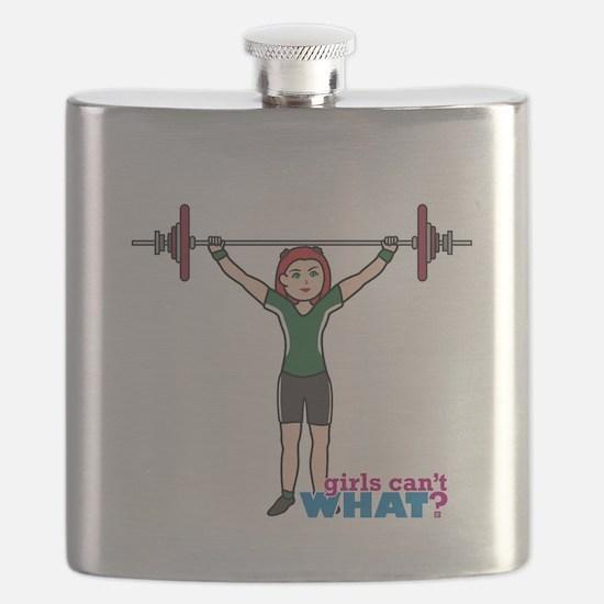 Weight Lifter Light/Red Flask
