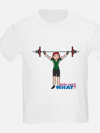 Weight Lifter Light/Red T-Shirt
