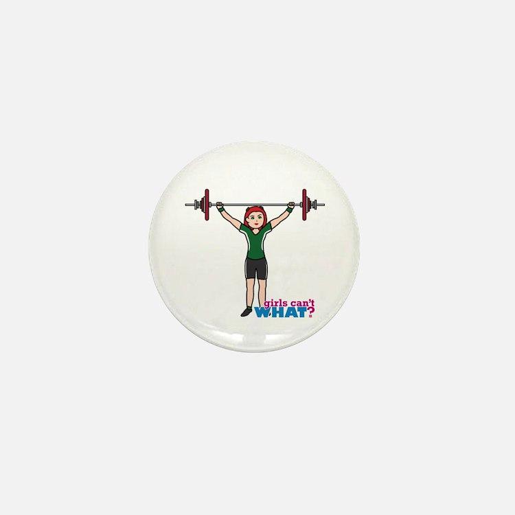 Weight Lifter Light/Red Mini Button