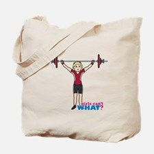 Weight Lifter Light/Red Tote Bag