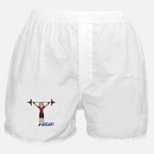 Weight Lifter Light/Red Boxer Shorts