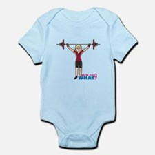 Weight Lifter Light/Red Infant Bodysuit