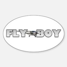 Fly Boy Aviation Oval Decal