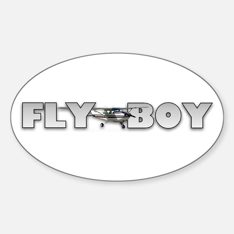 Fly Boy Aviation Oval Decal