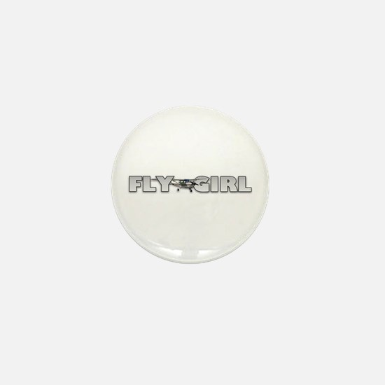 Fly Girl Aviation Mini Button