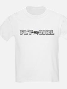 Fly Girl Aviation Kids T-Shirt