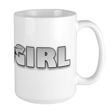 Fly Girl Aviation Large Mug