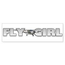 Fly Girl Aviation Bumper Bumper Sticker