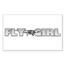 Fly Girl Aviation Rectangle Decal