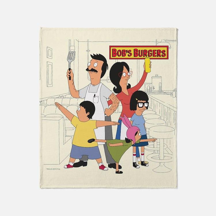 Bobs Burger Hero Family Throw Blanket