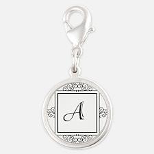 Fancy letter A monogram Charms