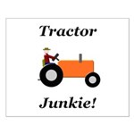 Orange Tractor Junkie Small Poster