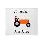 Orange Tractor Junkie Throw Blanket
