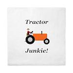 Orange Tractor Junkie Queen Duvet