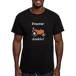Orange Tractor Junkie Men's Fitted T-Shirt (dark)