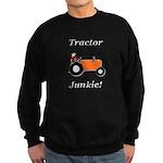 Orange Tractor Junkie Sweatshirt (dark)
