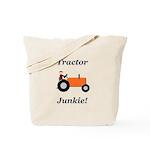 Orange Tractor Junkie Tote Bag