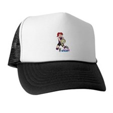 Volleyball Player Light/Red Trucker Hat