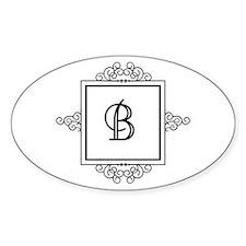 Fancy letter B monogram Decal