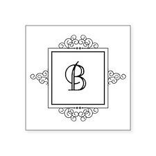 Fancy letter B monogram Sticker