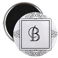 Fancy letter B monogram Magnets