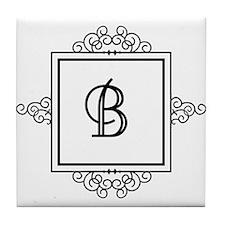 Fancy letter B monogram Tile Coaster