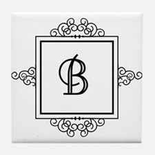 Fancy letter B monogram Tile Coaster
