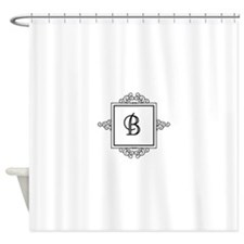 Fancy letter B monogram Shower Curtain