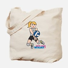 Volleyball Player Light/Blonde Tote Bag