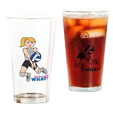 Volleyball Player Light/Blonde Drinking Glass