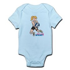 Volleyball Player Light/Blonde Infant Bodysuit