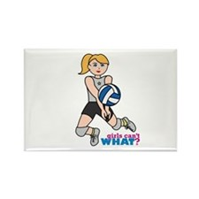 Volleyball Player Light/Blonde Rectangle Magnet