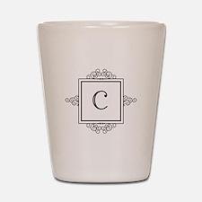 Fancy letter C monogram Shot Glass