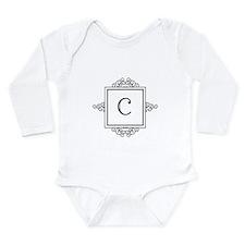 Fancy letter C monogram Body Suit