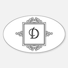 Fancy letter D monogram Decal