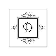 Fancy letter D monogram Sticker