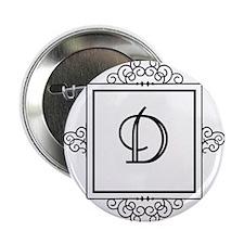 """Fancy letter D monogram 2.25"""" Button"""