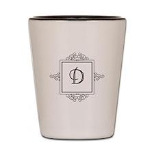 Fancy letter D monogram Shot Glass