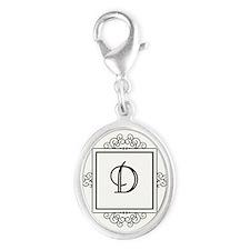 Fancy letter D monogram Charms