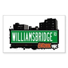 Williamsbridge Rd, Bronx, NYC Sticker (Rectangular