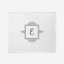 Fancy letter E monogram Throw Blanket