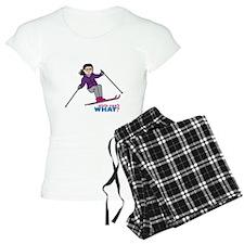 Skiing Woman Medium Pajamas