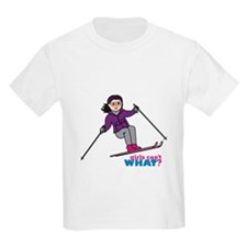 Skiing Woman Medium T-Shirt