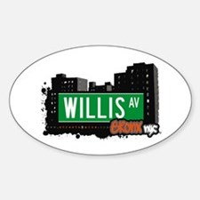 Willis Av, Bronx, NYC Oval Decal