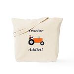 Orange Tractor Addict Tote Bag