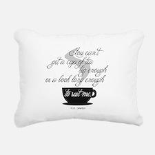 A Cup of Tea Rectangular Canvas Pillow