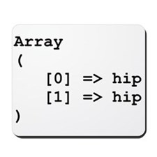 Hip Hip Hooray Programming Array Mousepad
