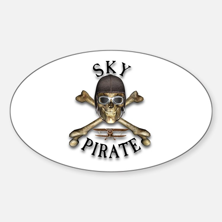 Sky Pirate Oval Decal